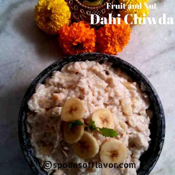 Makar Sankranti special fruit and nut dahi chiwda recipe