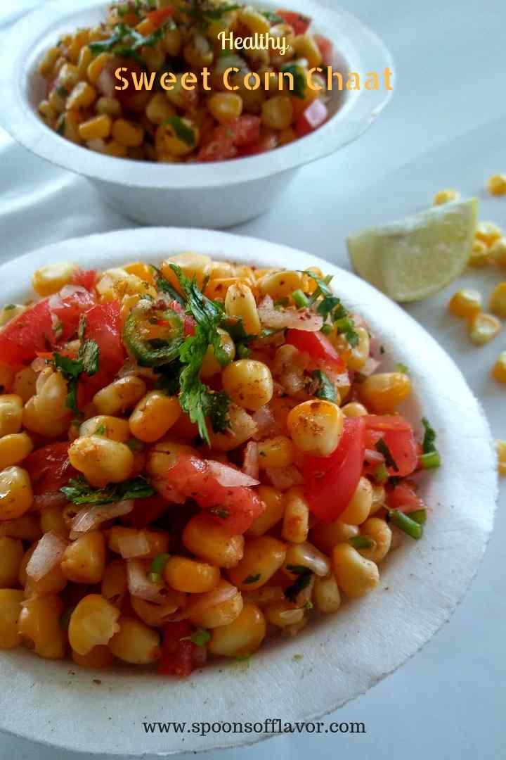 Swwet corn chaat recipe