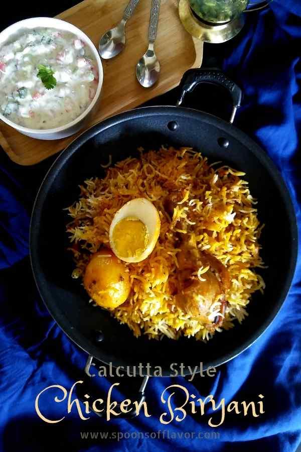 Chicken biryani calcutta style