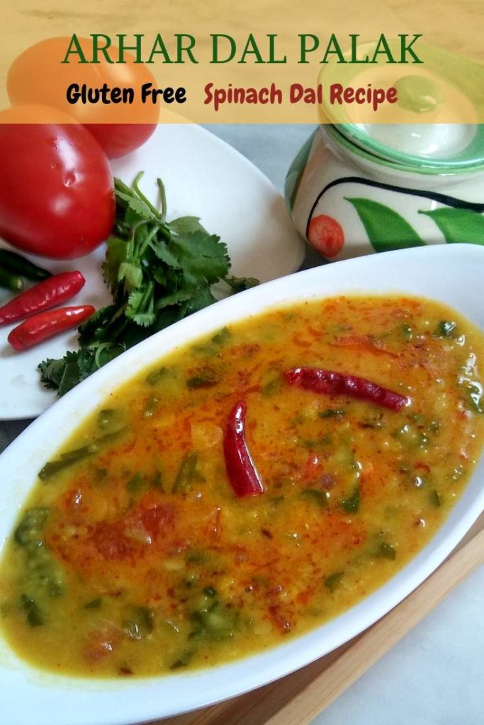 Arhar Dal Palak Recipe | Simple Spinach Dal is a wholesome and nutritious dal made with arhar dal/tovar dal/split pigeon peas lentils and spinach.