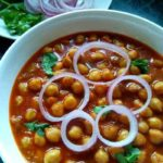 A simple, delicious, homestyle, and lightly spiced chole masala recipe.