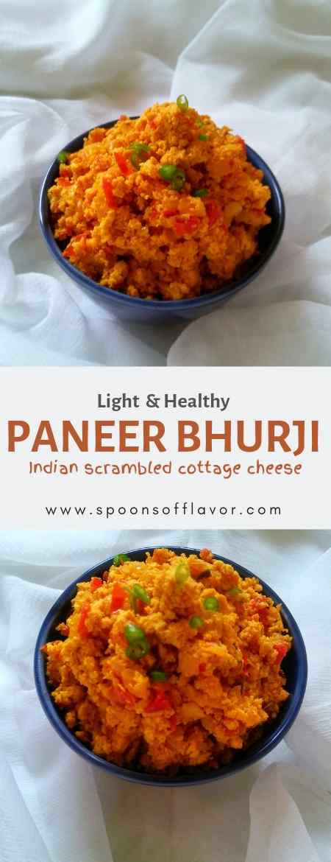 Paneer Bhurji Recipe light and healthy