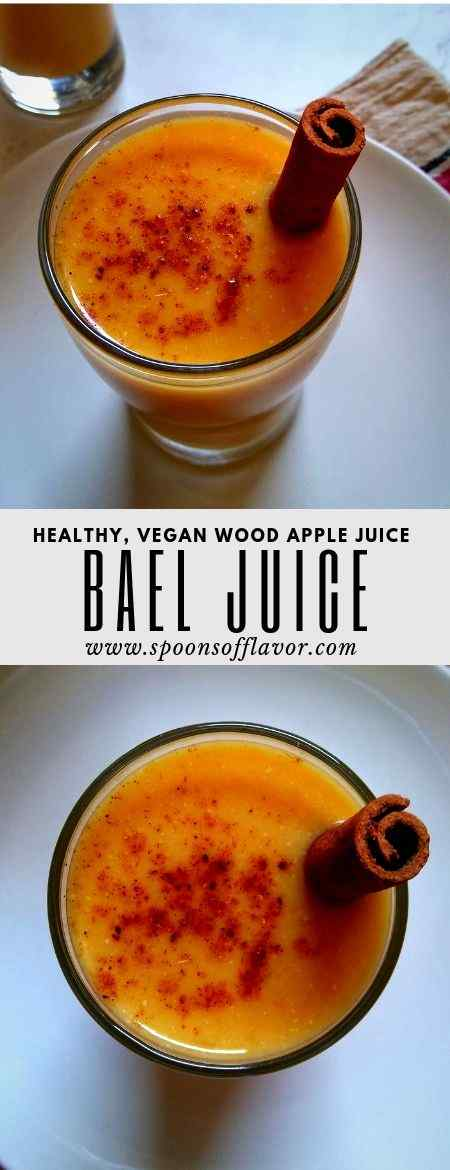 Bael juice recipe aka wood apple juice is a healthy, light drink made by extracting the pulp of the bael fruits.