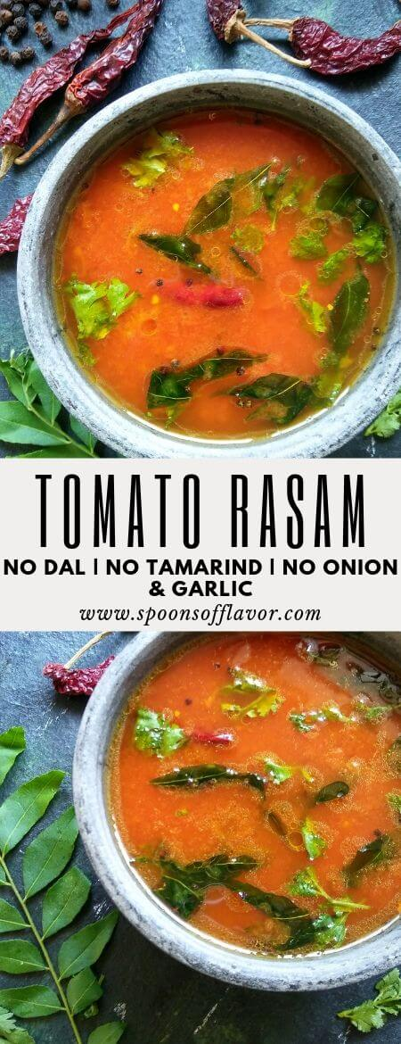 Tomato Rasam without Dal and Tamarind | Tomato Rasam - Spoons Of Flavor