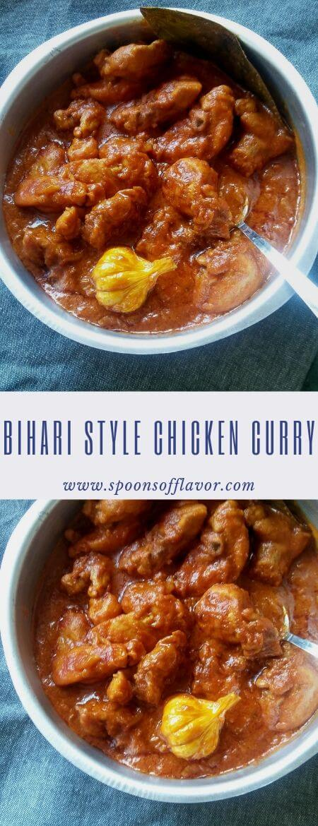 Bihari Style Chicken Curry | Bihari Chicken Masala - Spoons Of Flavor