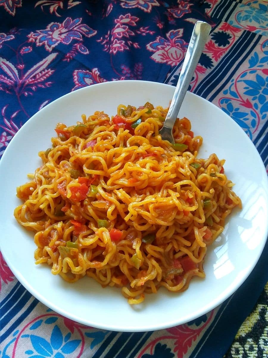 Simple Maggi Masala Noodles